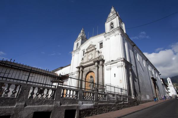 Monasterio de Santa Clara with the Capilla del Robo in the background | Quito old city | Ecuador