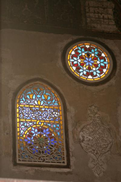 Coloured stained glass windows in a wall of the Al Maridani mosque | Al Maridani mosque | Egypt