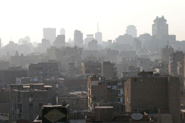 Looking towards the modern part of the city from the roof of Maridani mosque | Al Maridani mosque | Egypt