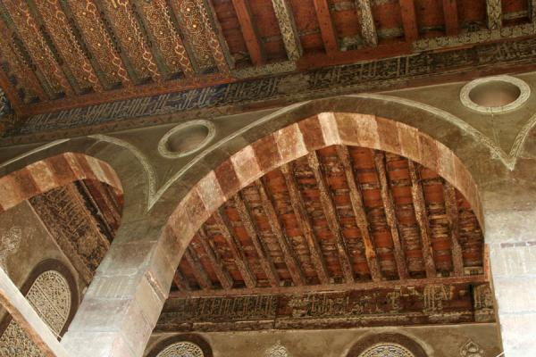 Renovated ceiling and original state: a huge difference | Al Maridani mosque | Egypt