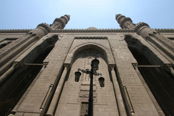 Picture of Ar-Rifai mosque (Egypt): Minarets of ar-Rifai mosque dwarfing the visitor
