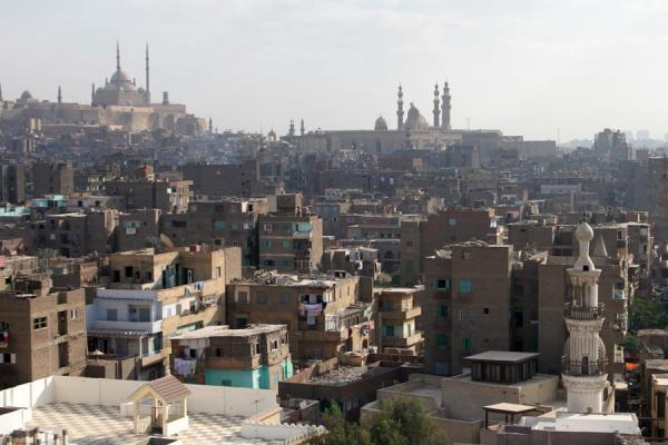 View from Bab Zuweyla towards the Citadel of Cairo | Bab Zuweyla | Egypte