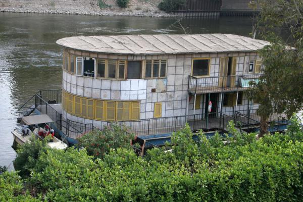 Two-storied houseboat or dahabiyyah on the river Nile in Cairo | Houseboats | Egypt