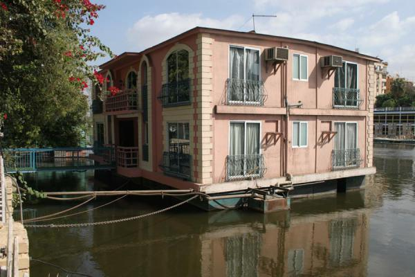 Reflections of houseboat in the river Nile | Houseboats | Egypt
