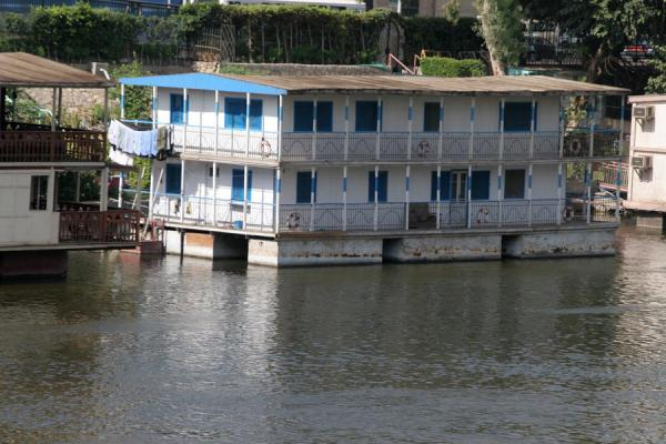 One of the houseboats seen from the other side of the river Nile | Houseboats | Egypt