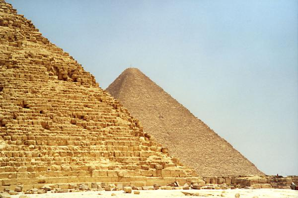 Two pyramids taking a sunbath | Pyramids of Gizeh | Egypt