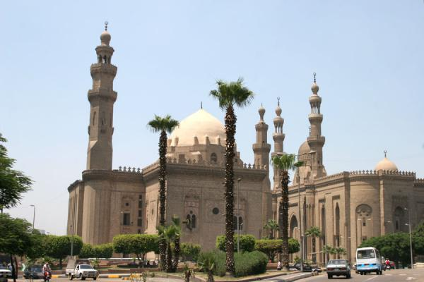 Picture of Sultan Hassan and ar-Rifai mosque from a distanceCairo - Egypt