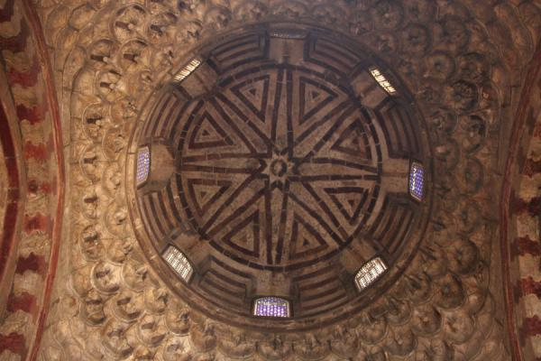 Dome over the entrance of Sultan Hassan mosque | Mosquée Sultan Hassan | Egypte