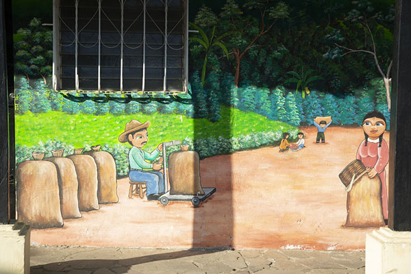 Picture of Coffee harvest on a mural in AtacoConcepción de Ataco - El Salvador