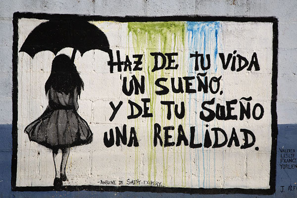 Picture of Quote painted on a wall in Concepción de Ataco - El Salvador - Americas
