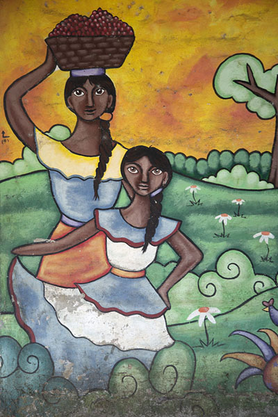 Mural depicting women harvesting coffee | Concepción de Ataco | El Salvador
