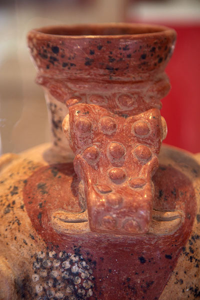 Picture of Detail of colourful pottery found at Joya de Cerén - El Salvador - Americas