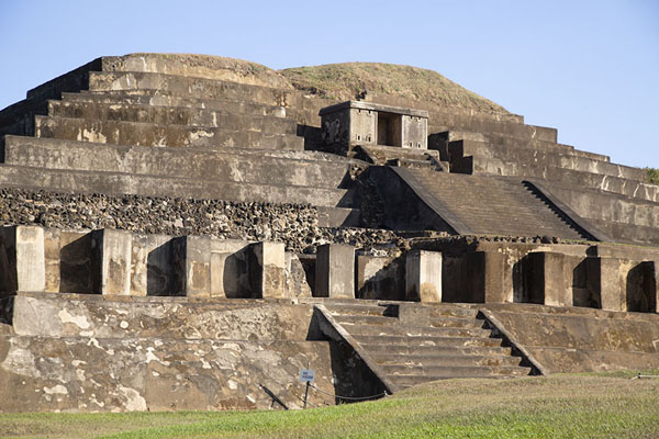 Westside of the main pyramid, Structure B1-1, of Tazumal | Tazumal | El Salvador