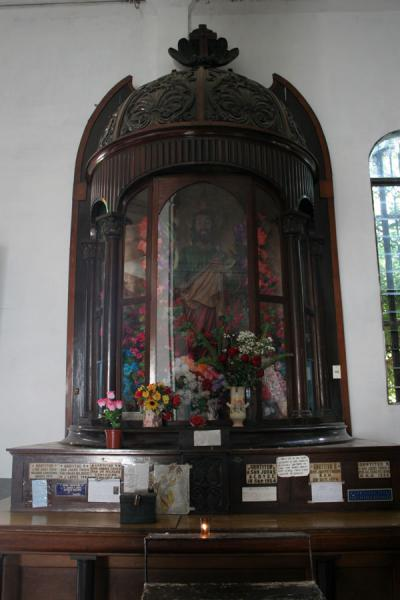 Picture of Religious art in Santa Lucía Cathedral in ZacatecolucaZacatecoluca - El Salvador