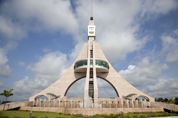 The tower of freedom, at the northern end of the waterfront of Bata | Bata waterfront | Equatorial Guinea