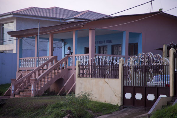 Picture of Kogo border crossing (Equatorial Guinea): This is the building where I spent awful hours discussing with the police