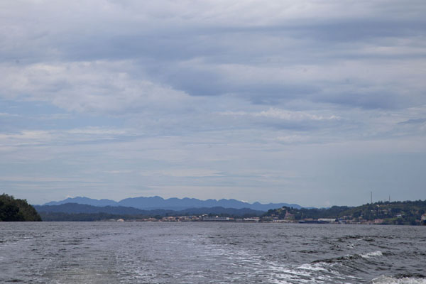 Picture of Kogo border crossing (Equatorial Guinea): View of the estuary between Cocobeach and Kogo