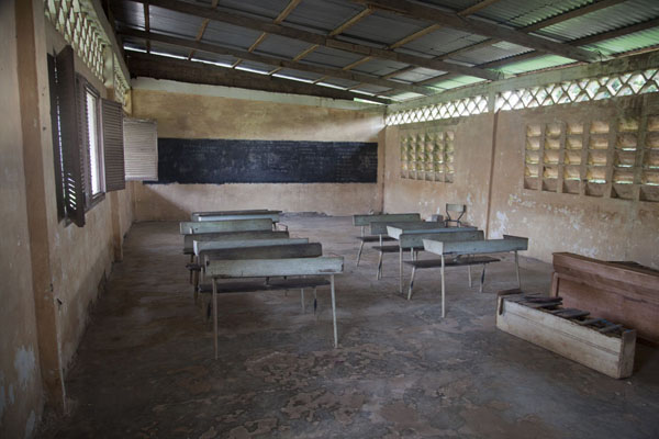 Empty classroom at the convent in Kogo | Kogo | Equatorial Guinea