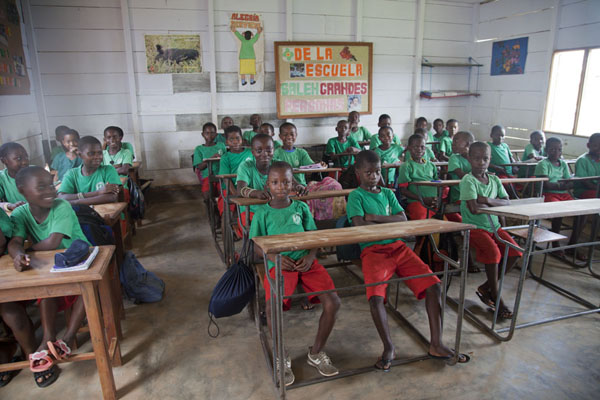 One of the classes of the school I visited | Kogo | Equatorial Guinea
