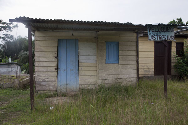 Picture of Many houses in Mbini are made of woodMbini - Equatorial Guinea