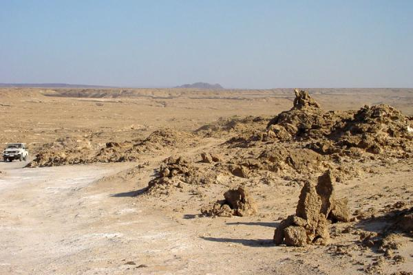 Picture of One of the very few cars we saw in the rugged landscape of the Danakil DepressionBadda - Eritrea