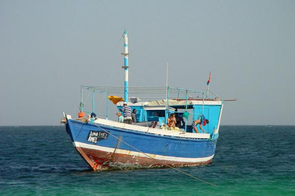 The sambuk that was our home for three days | Dahlak archipelago | Eritrea