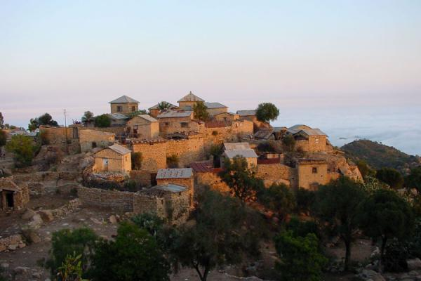 Some of the dwellings of the monks perched on the mountains of Debre Bizen | Debre Bizen | Eritrea