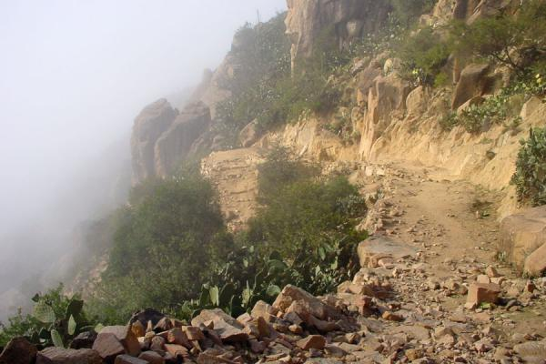 Walking up to the Debre Bizen monastery took me above the clouds. | Debre Bizen | Eritrea