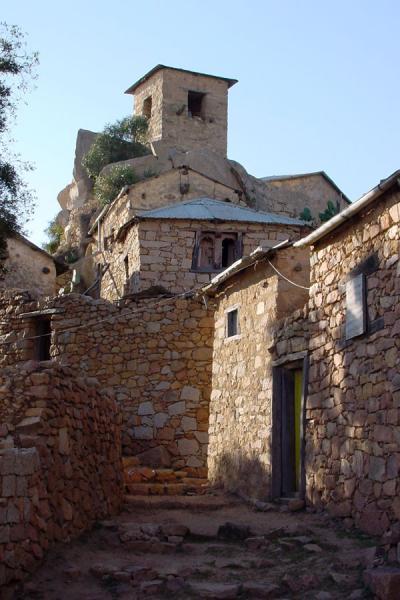 Picture of Debre Bizen (Eritrea): Street in Debre Bizen monastery