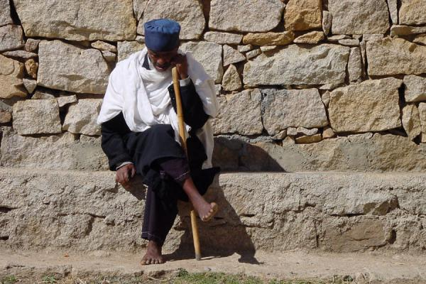 Picture of Thinking monk at Debre Bizen monastery