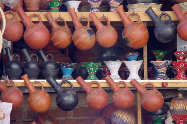 Picture of Eritrean Markets (Eritrea): Traditional Eritrean coffeepots, Asmara market