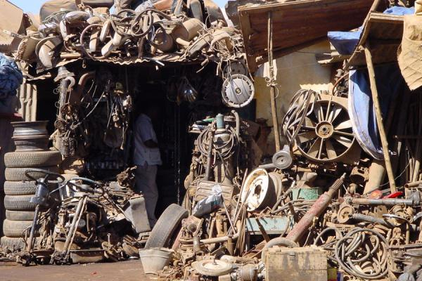 Some of the rubble ready to be recycled at Medebar market in Asmara | Eritrean Markets | Eritrea