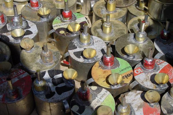 These are ingenuous oil-lamps made from used tins and other second-hand material | Eritrean Markets | Eritrea
