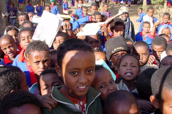 Picture of Young Eritrean students in Senafe