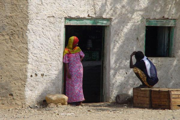 Chatting in the shadow of Foro village | Eritrean people | Eritrea