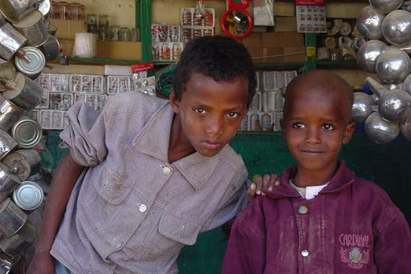Two boys in the market of Keren | Eritrean people | Eritrea