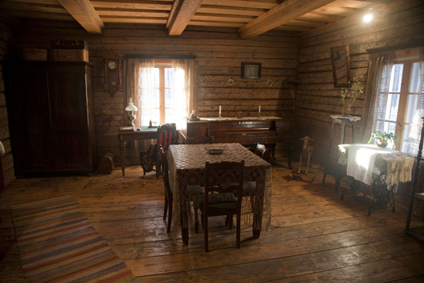 Picture of Estonian Open Air Museum (Estonia): Living room in the Kuie school building
