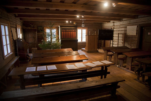 Picture of Estonian Open Air Museum (Estonia): Classroom in the Kuie school building