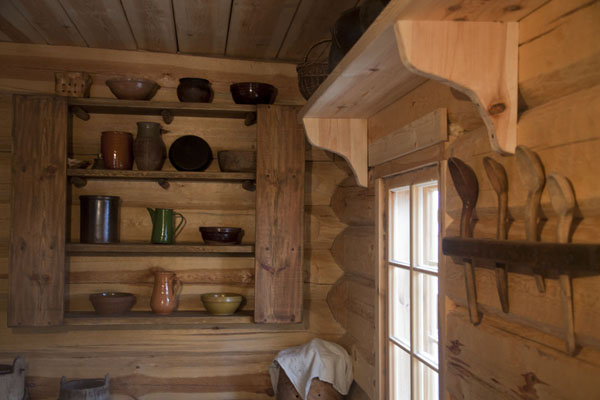 Picture of Estonian Open Air Museum (Estonia): Part of the kitchen in Seto farm
