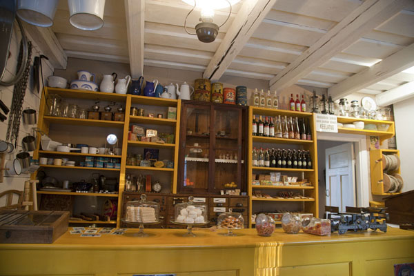 Foto di Counter of Lau village shop showing a typical early 20th century shop - Estonia - Europa