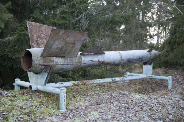 Foto van Soviet missile from the times when Lahemaa National Park was a military zoneLahemaa - Estland