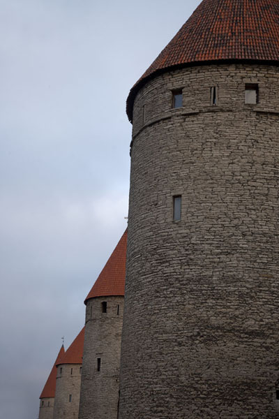 Row of watchtowers in the northern part of the Lower Town | Old Tallinn | Estonia