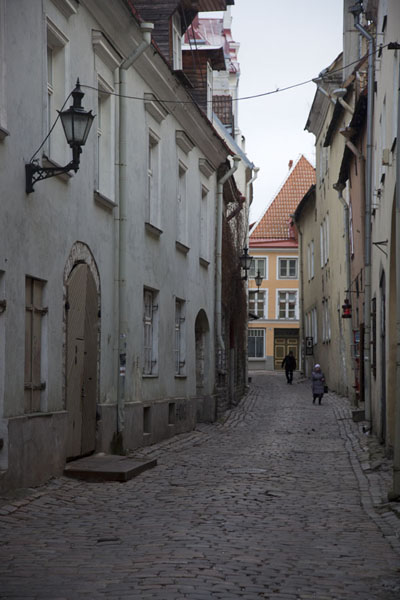 Foto van Cobble-stone street in the Lower Town of TallinnTallinn - Estland