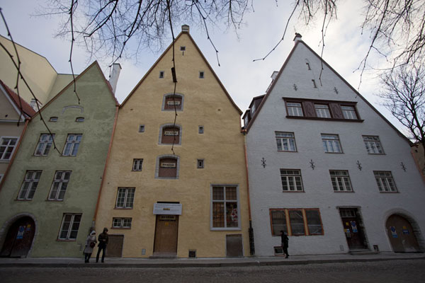 Foto van Row of traditional houses in the Lower TownTallinn - Estland