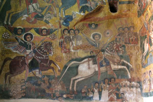 Picture of Abreha wa Atsbeha church (Ethiopia): Abreha and Atsbeha church: murals depicting a history of the Ethiopian church