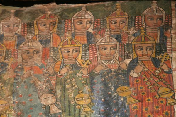 Detail of mural inside Abreha and Atsbeha church | Abreha wa Atsbeha church | Ethiopia