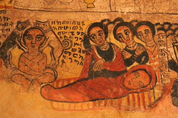 Picture of Religious scene on mural in Abreha and Atsbeha church