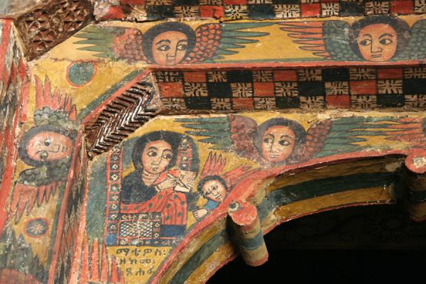 Corner of a doorframe in the Abreha and Atsbeha church | Abreha wa Atsbeha church | Ethiopia