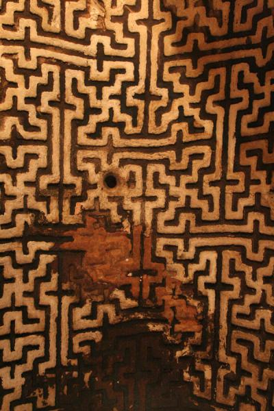 Decoration of vault inside Abreha and Atsbeha church with double crosses | Abreha wa Atsbeha church | Ethiopia
