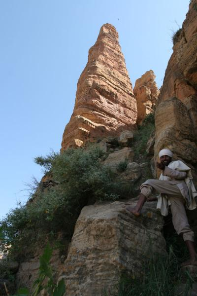 Picture of Abuna Yemata Guh church (Ethiopia): Rocky pillar of the pinnacle of Guh group in which Abuna Yemata Guh is located